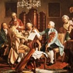 Joseph Haydn playing string quartets Anonymous - painting from the StaatsMuseum, Vienna